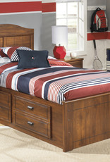 Barchan Bed with Storage Drawers (includes headboard, footboard, rails and drawers)