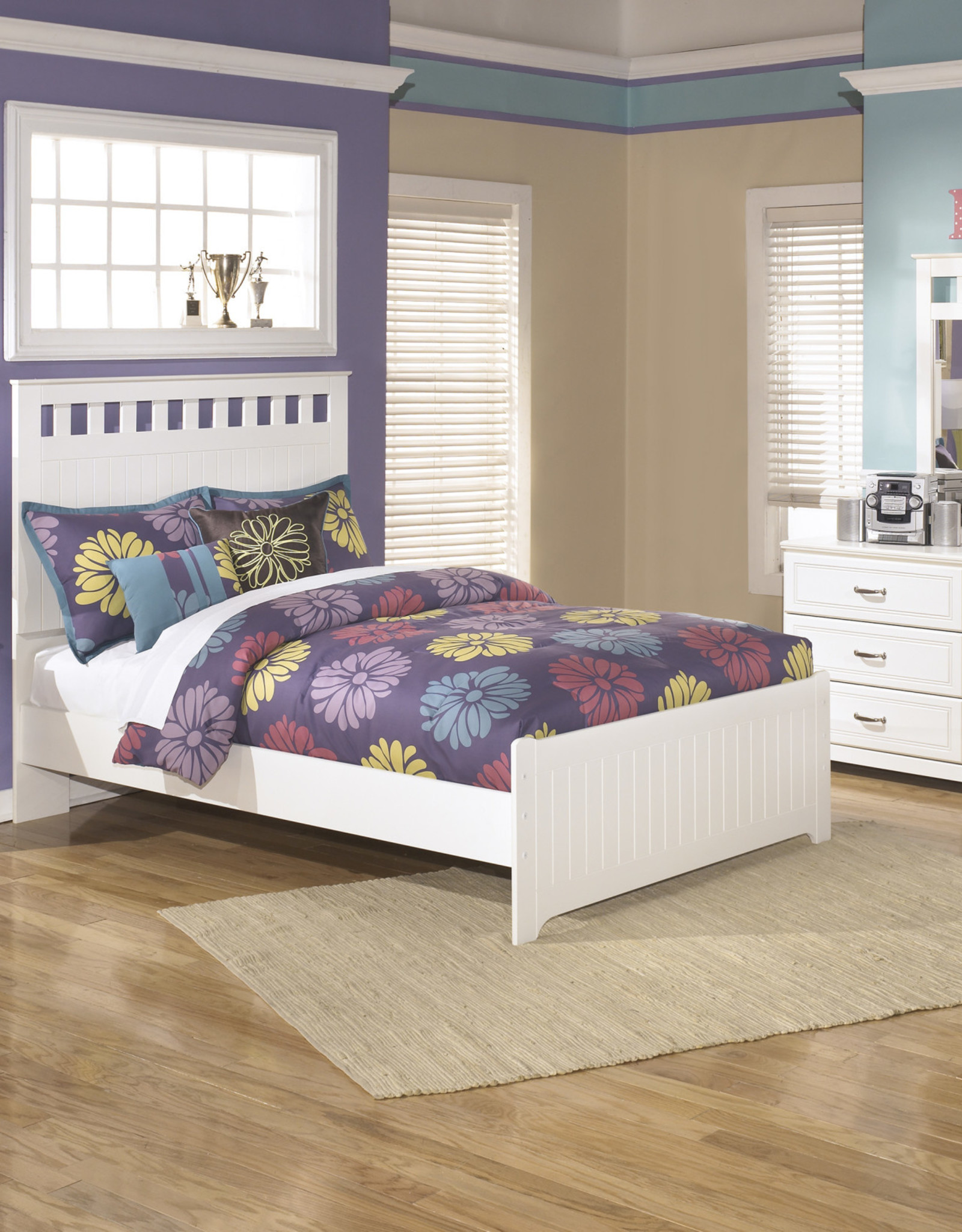 Lulu Bed (includes headboard, footboard, and rails)