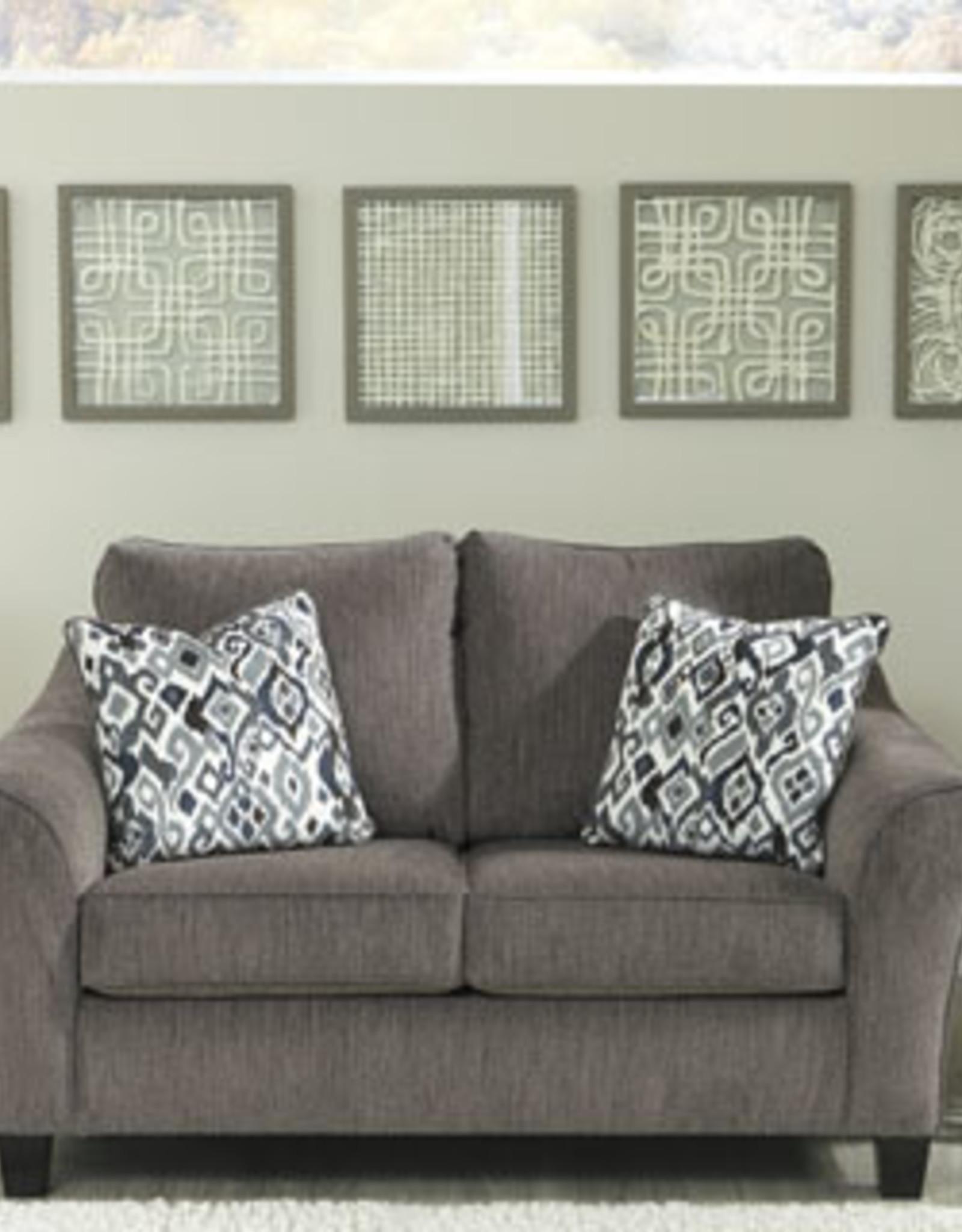 Nemoli Loveseat (Slate) - Sofa Displayed in Store