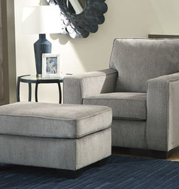Altari Ottoman (Alloy) - Sofa Displayed in Showroom in Slate
