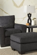 Wixon Ottoman (Slate) - Sofa Displayed in Sofa