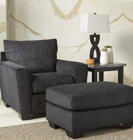 Wixon Ottoman (Slate) - Sofa Displayed in Showroom