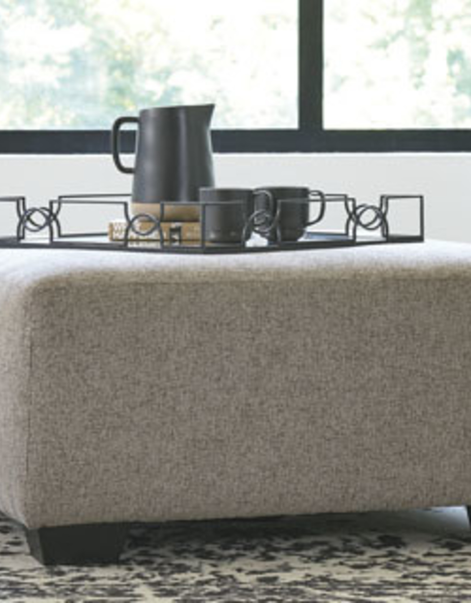 Ballinasloe Ottoman (Platinum) - Displayed in Showroom as a Sectional