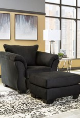 Darcy Ottoman (Black) - Online Only