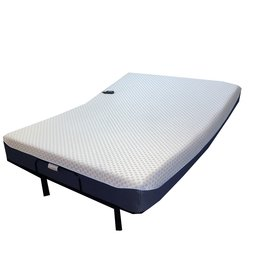 Black Friday Charcoal and Green Tea Infused Memory Foam Mattress With  Adjustable Bed Combo - Queen Size