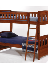 Cinnamon Twin Over Twin Bunk Bed