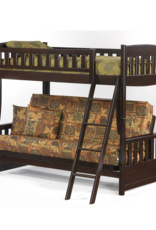 Cinnamon Twin Over Futon Bunk Bed