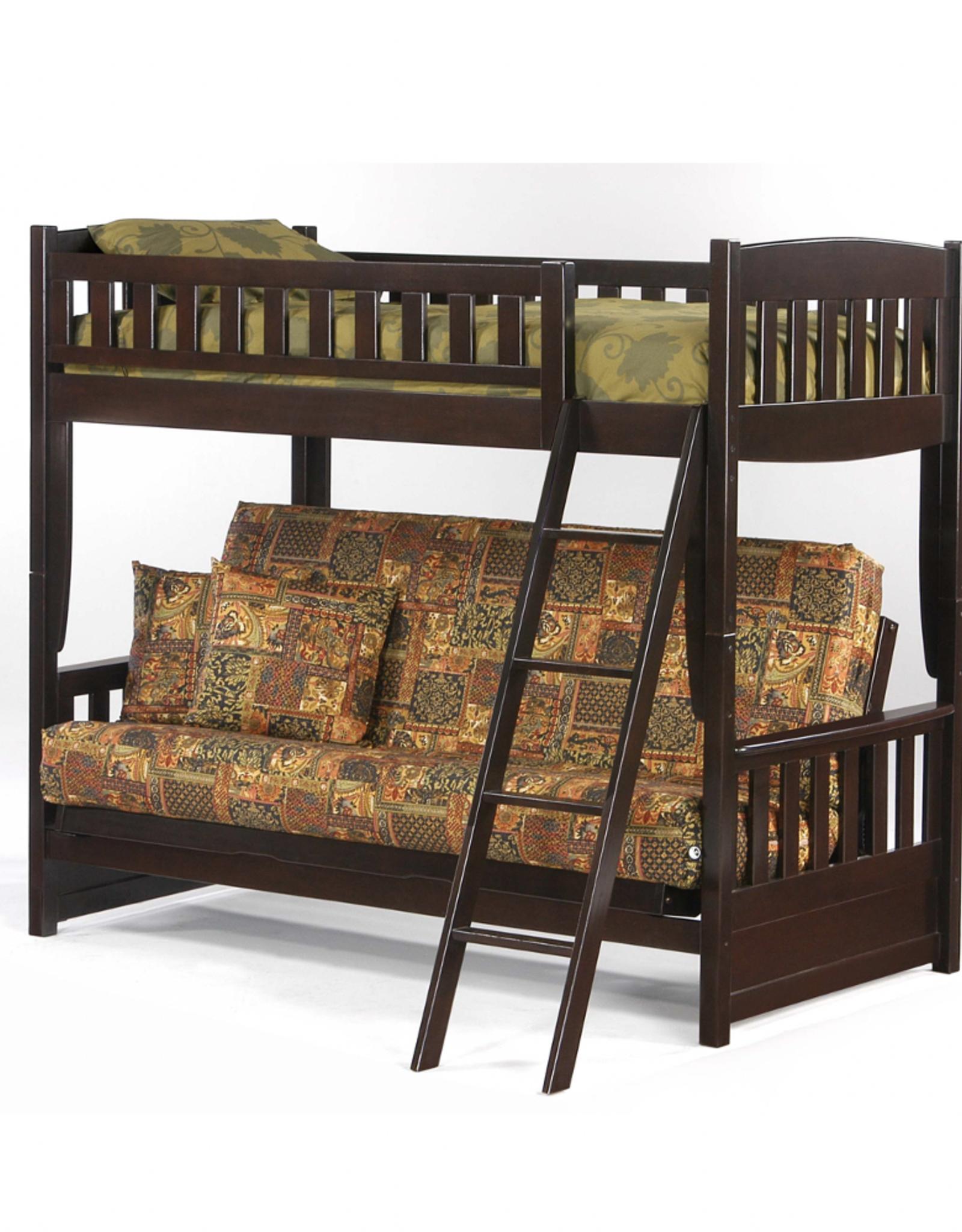 Cinnamon Twin Over Futon Bunk Bed