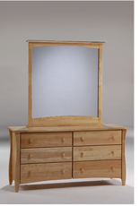 Clove 6-Drawer Dresser With Clove Mirror