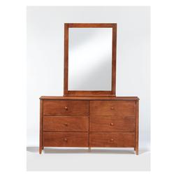 Zest 6-Drawer Dresser With Zest Mirror