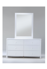 Zest 6-Drawer Dresser With Zest Mirror