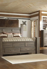 Ashley King Poster Bed with Drawers B251