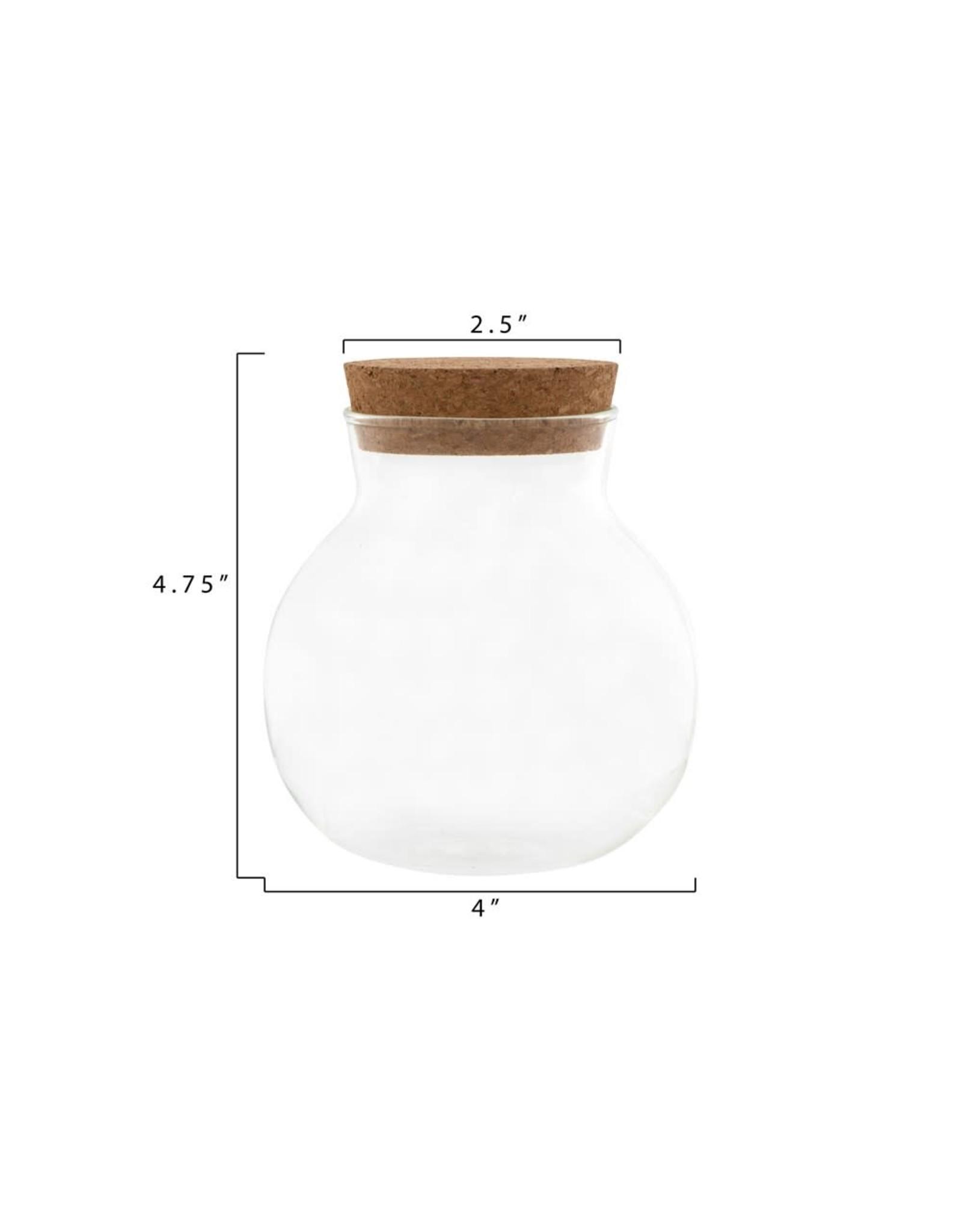 Small Glass Jar w/ Cork Stopper