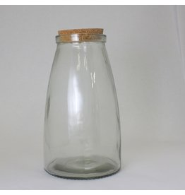 Large Glass Canister w/ Cork Stopper