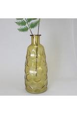 Amber Embossed Glass Vase