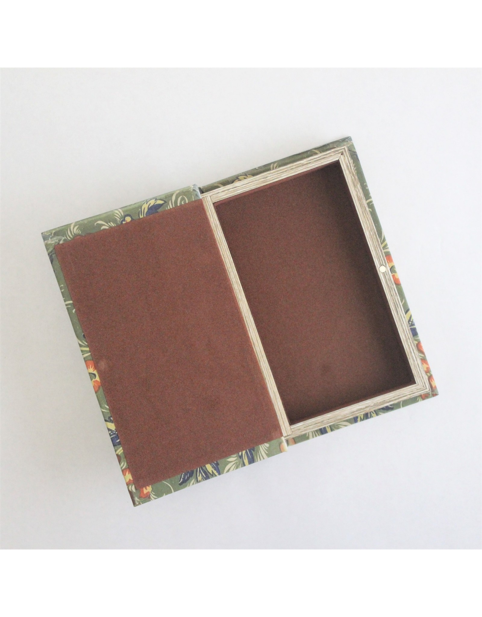 Green Floral Book Box, Small