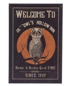 Owl's Hollow Inn Framed Sign