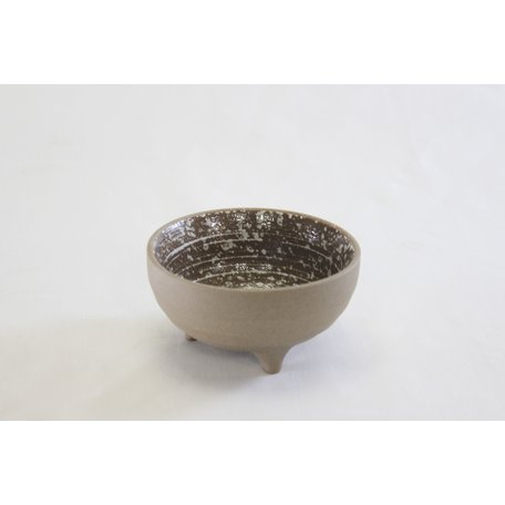Brown Speckled Footed Bowl
