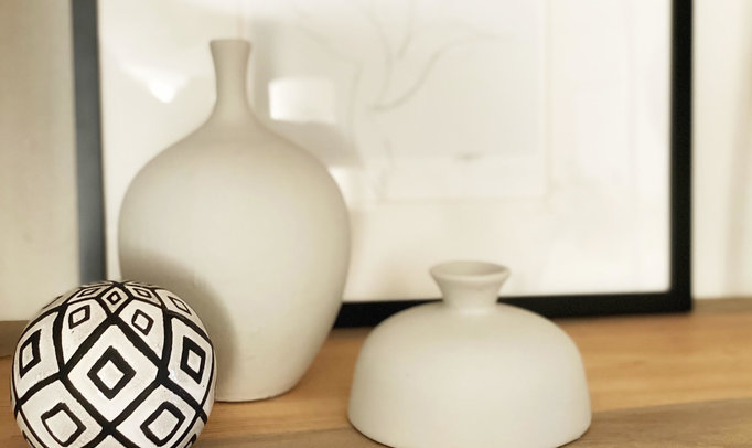 DIY Textured Clay Vase