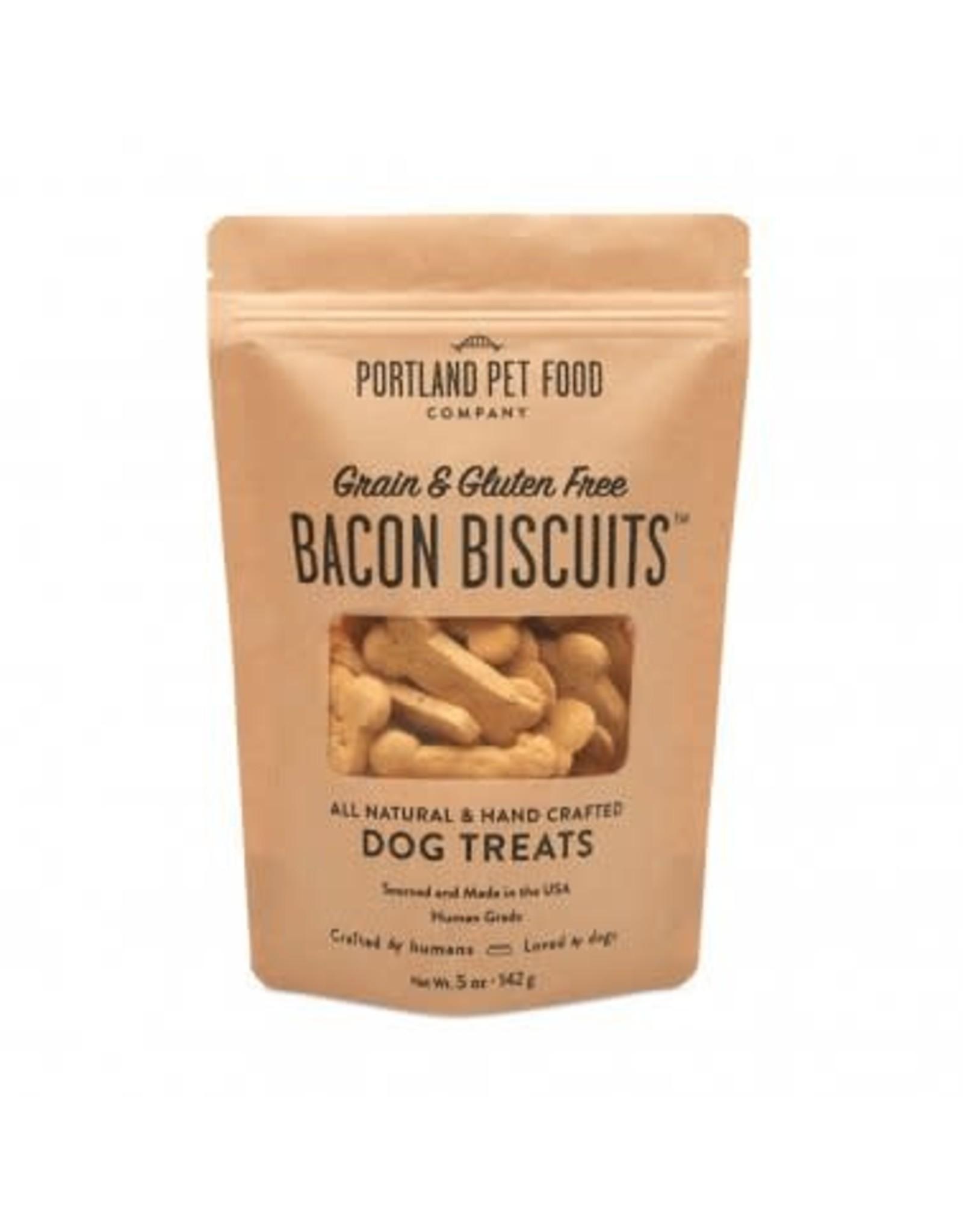 Portland Pet Food Portland Pet Food Grain-Free Bacon Biscuits Dog Treats 5oz