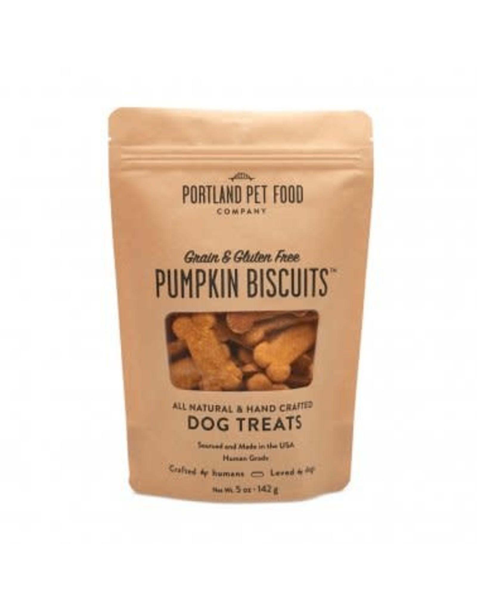 Portland Pet Food Portland Pet Food  Grain-Free Pumpkin Biscuits Dog Treats 5oz