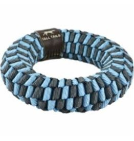 """Tall Tails Tall Tails Dog Braided Ring 6"""" Blue"""