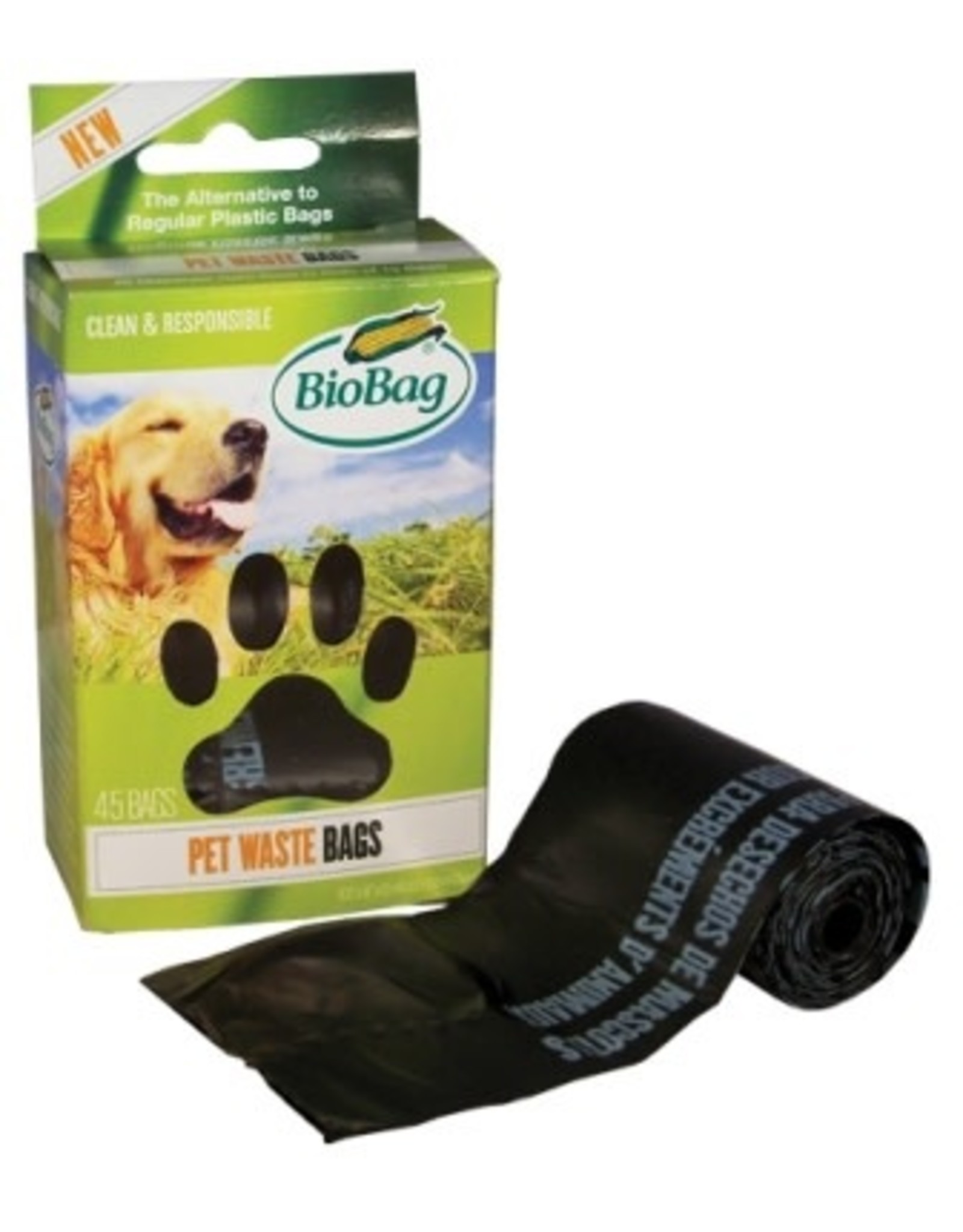 Bio Bag Bio Bag Compostable Dog Waste Bag Spindle Roll 45ct