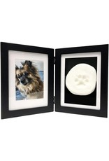 Midlee Designs Midlee Hinge Clay Paw Print Frame - Black