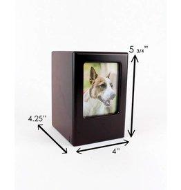 Midlee Designs Midlee Picture Frame Memory Pet Urn 30lb - Black Cherry
