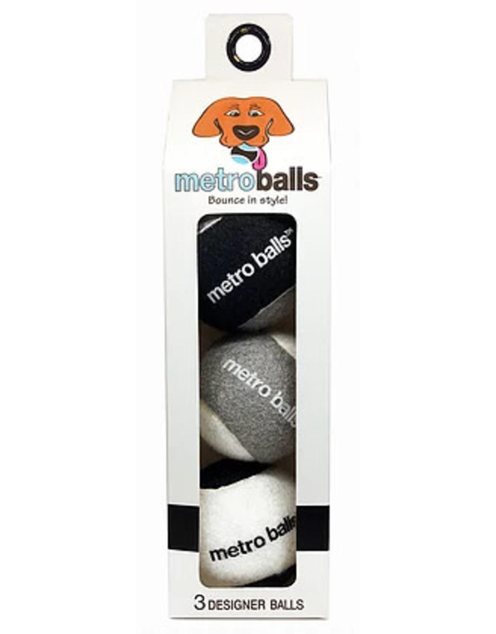 Metro Paws Metro Paws Metro Balls Black 3ct