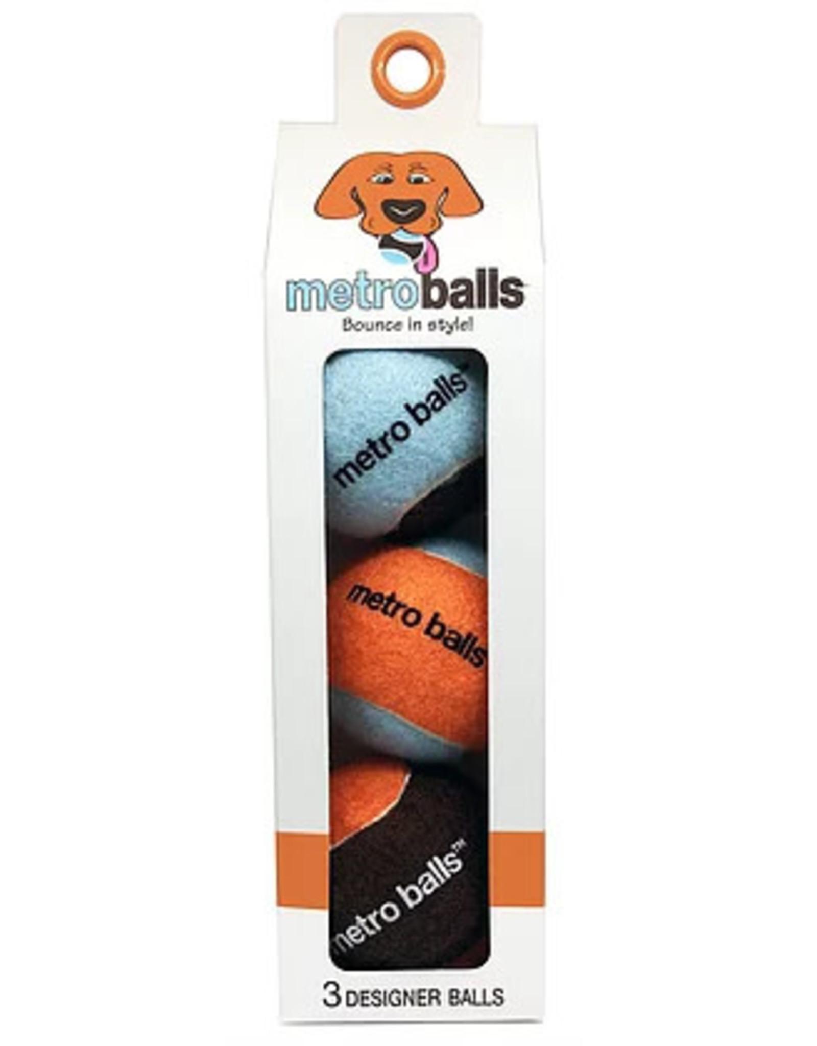 Metro Paws Metro Paws Metro Balls Orange 3ct