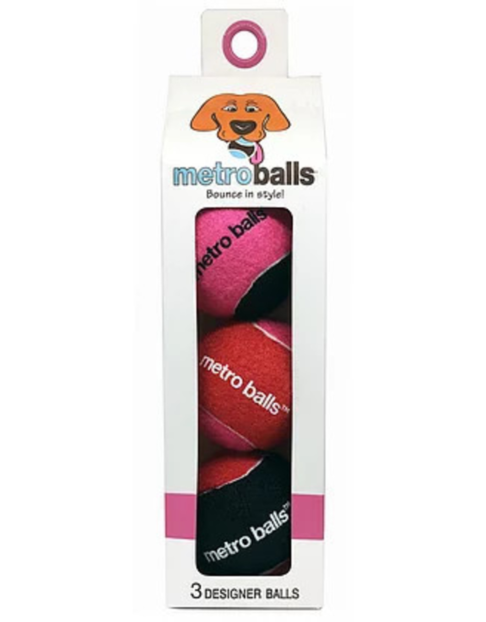 Metro Paws Metro Paws Metro Balls Pink 3ct