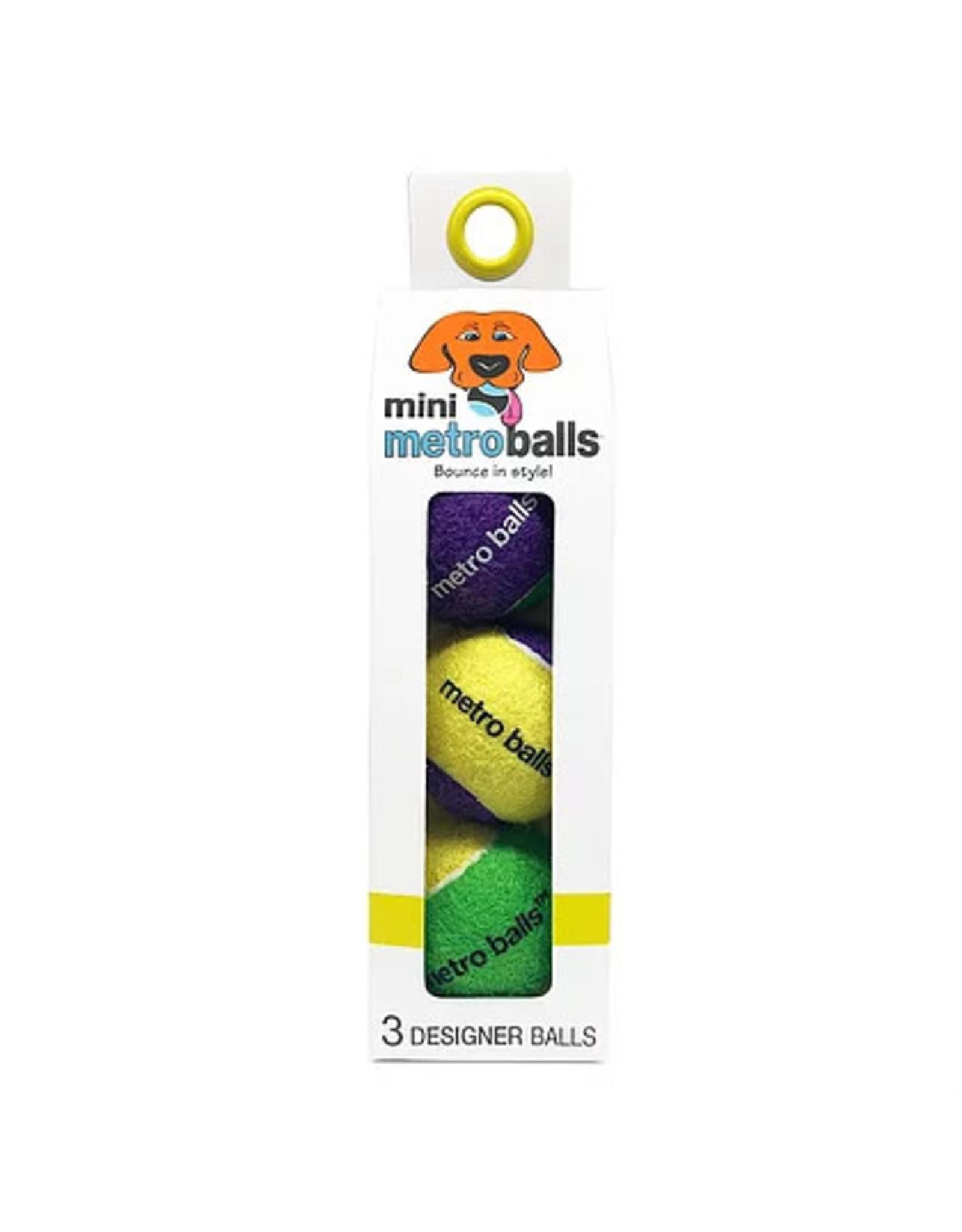 Metro Paws Metro Paws Mini Metro Balls Yellow 3ct
