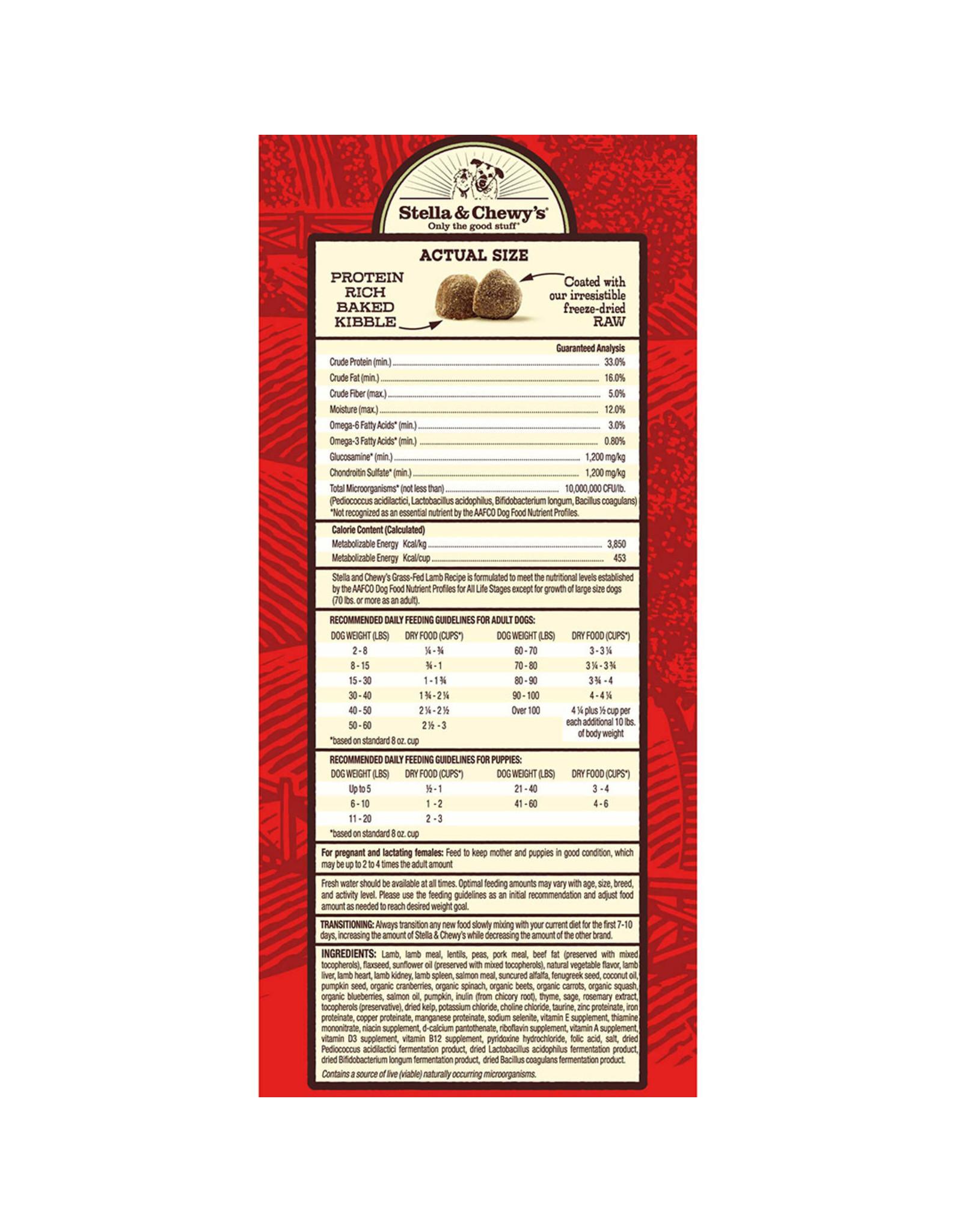 Stella & Chewy's Stella & Chewy's Raw Coated Kibble Grass-Fed Lamb Recipe Dog Food  22lb