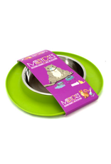 Messy Cats Messy Cats Single Silicone Feeder with Stainless Saucer Shaped Bowl