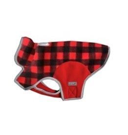 Cloak & Dawggie Cloak & Dawggie Red Buffalo Pattern Fleece Jacket