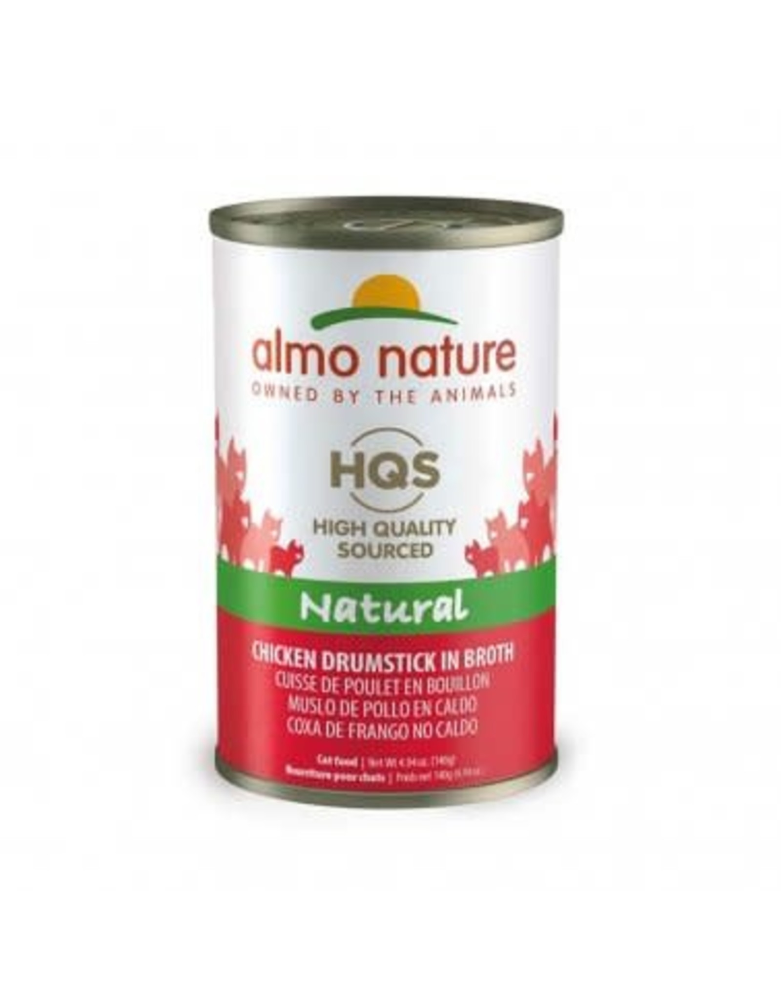 Almo Nature Almo Nature HQS Natural Chicken Drumstick in Broth Cat Food 4.94oz