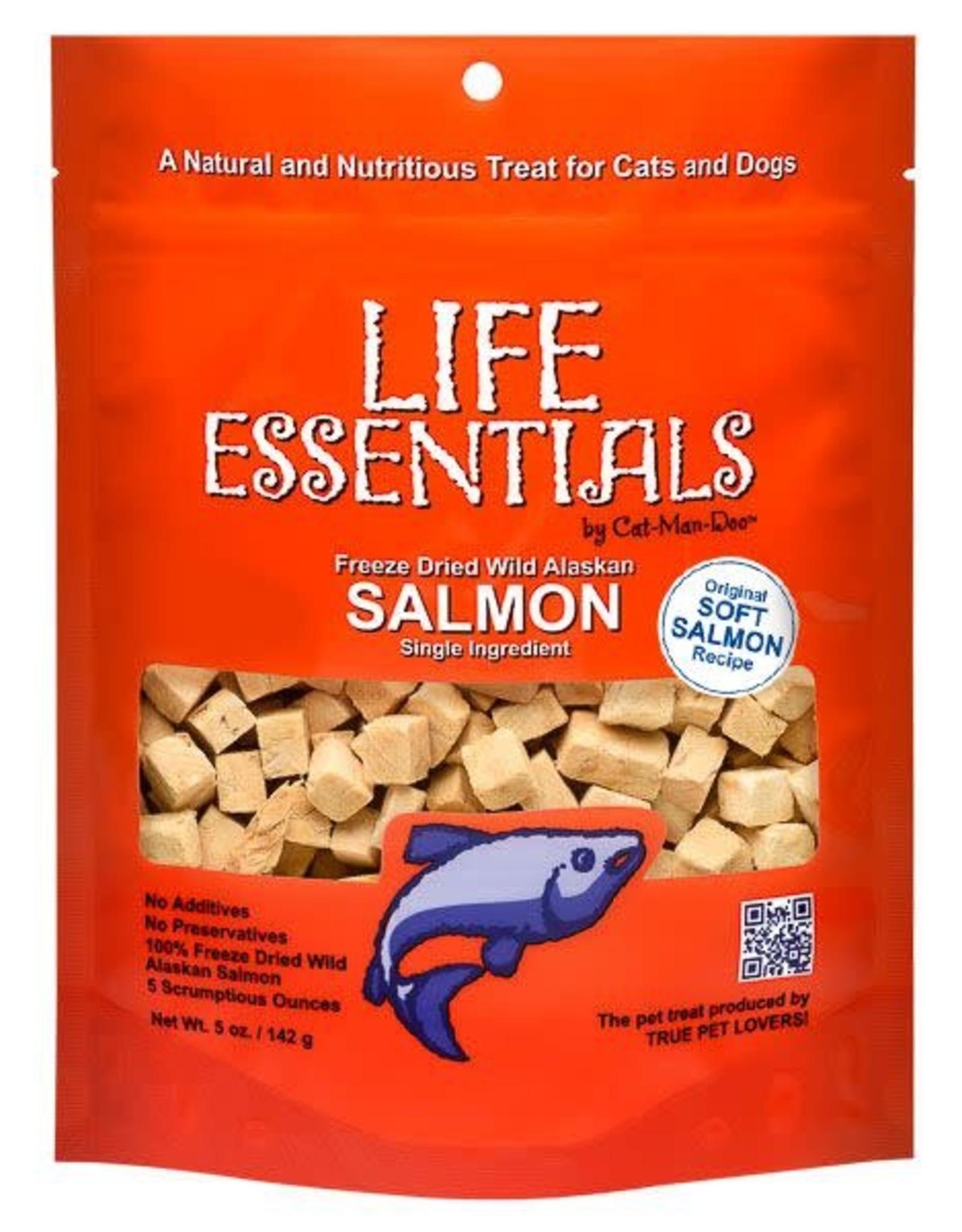 Cat-Man-Doo Cat-Man-Doo Life Essentials Freeze Dried Salmon Cubes 2oz