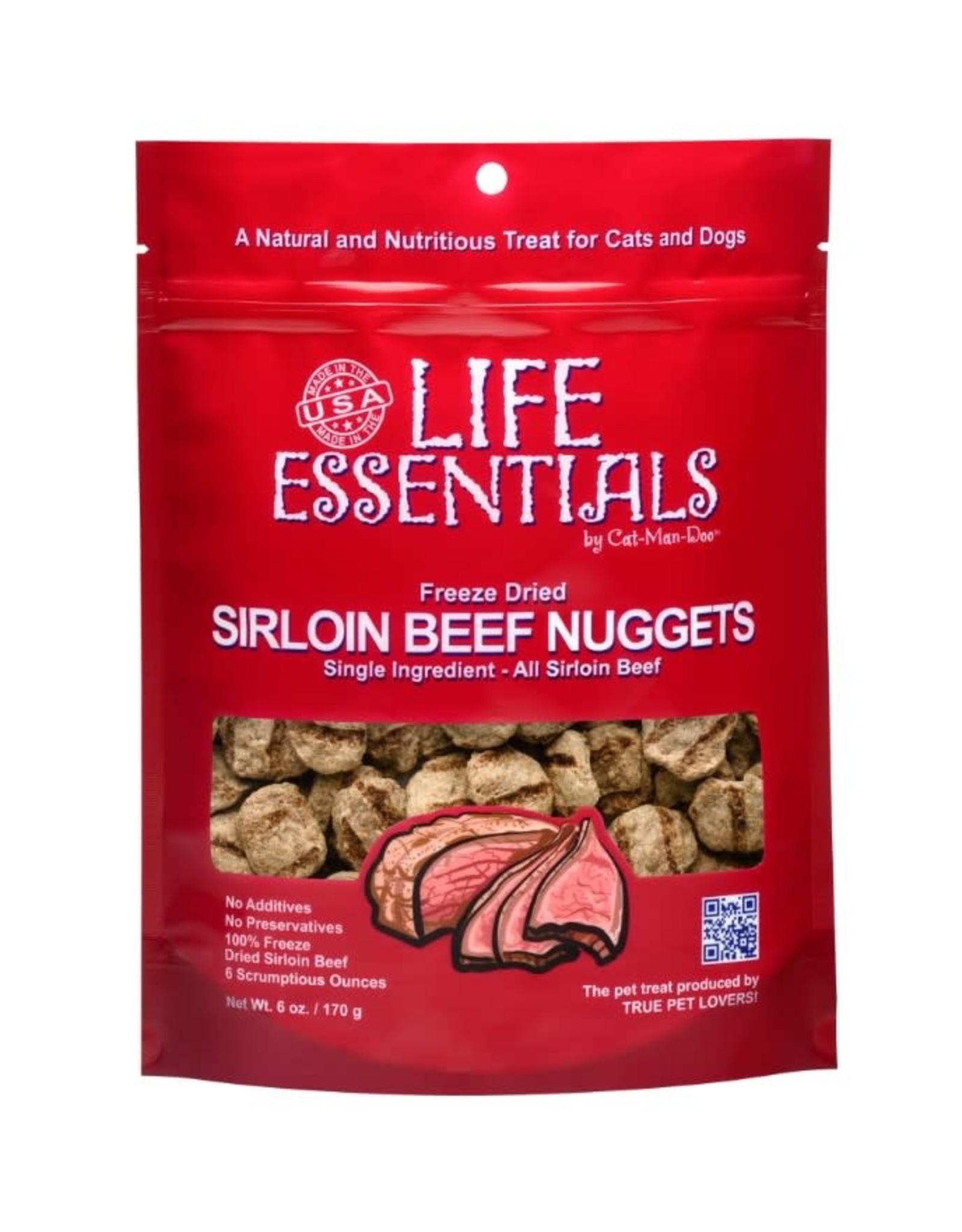 Cat-Man-Doo Cat-Man-Doo Life Essentials Freeze Dried Sirloin Beef Nuggets 3oz