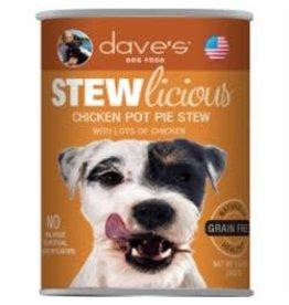 Dave's Pet Food Dave's Stewlicious Chicken Pot Pie Stew Dog Food 13oz