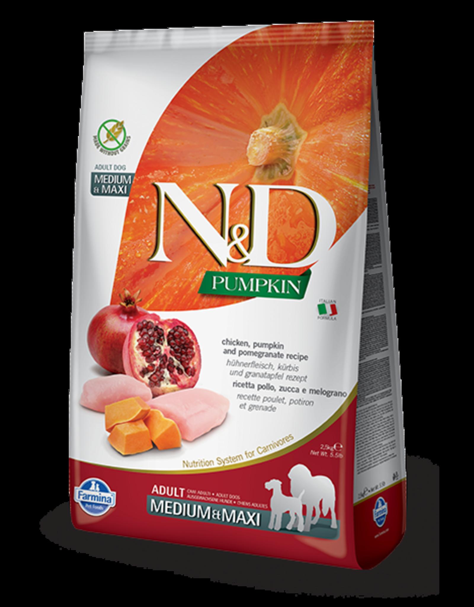 Farmina N&D Farmina N&D Pumpkin GF Chicken, Pumpkin & Pomegranate Adult Med/Max Dog Food