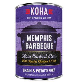 KOHA Koha Memphis BBQ Slow Cooked Stew Chicken & Pork Recipe Dog Food 12.7oz