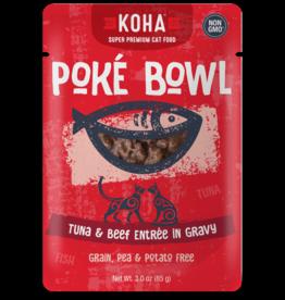 KOHA Koha Poke Bowl Tuna & Beef Entree in Gravy Cat Food 3oz Pouch