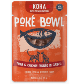 KOHA Koha Poke Bowl Tuna & Chicken Entree in Gravy Cat Food 3oz Pouch