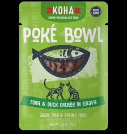 KOHA Koha Poke Bowl Tuna & Duck Entree in Gravy Cat Food 3oz Pouch