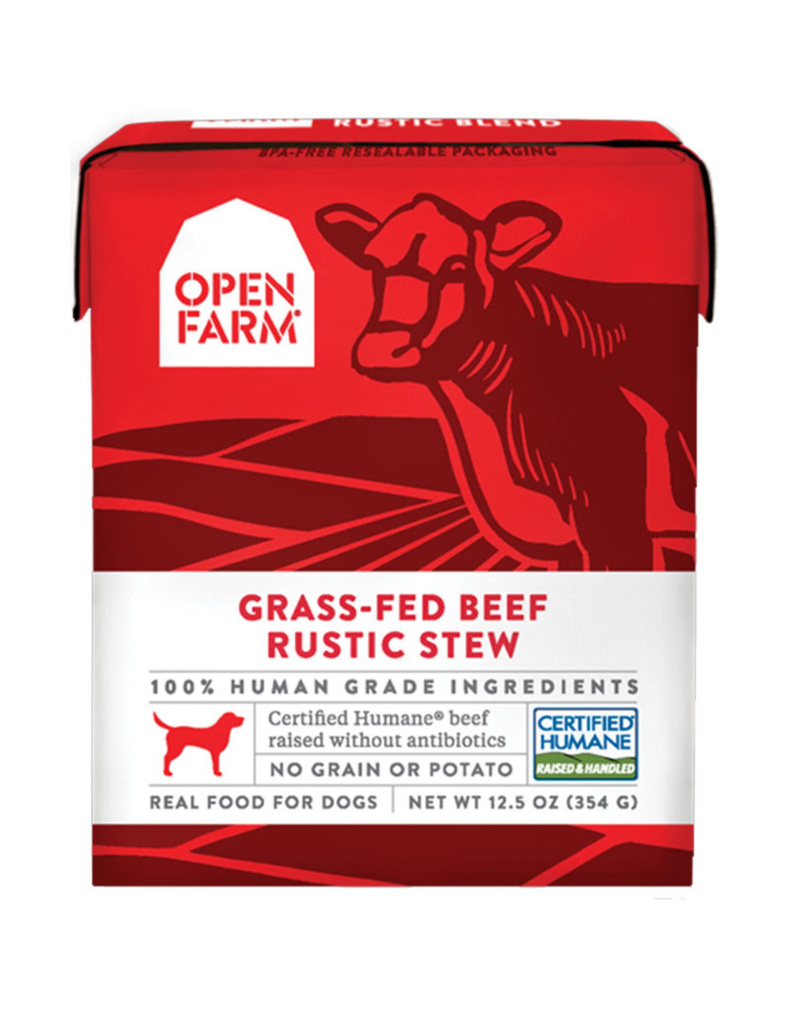 Open Farm Open Farm Grass-fed Beef Rustic Stew Dog food 12.5oz