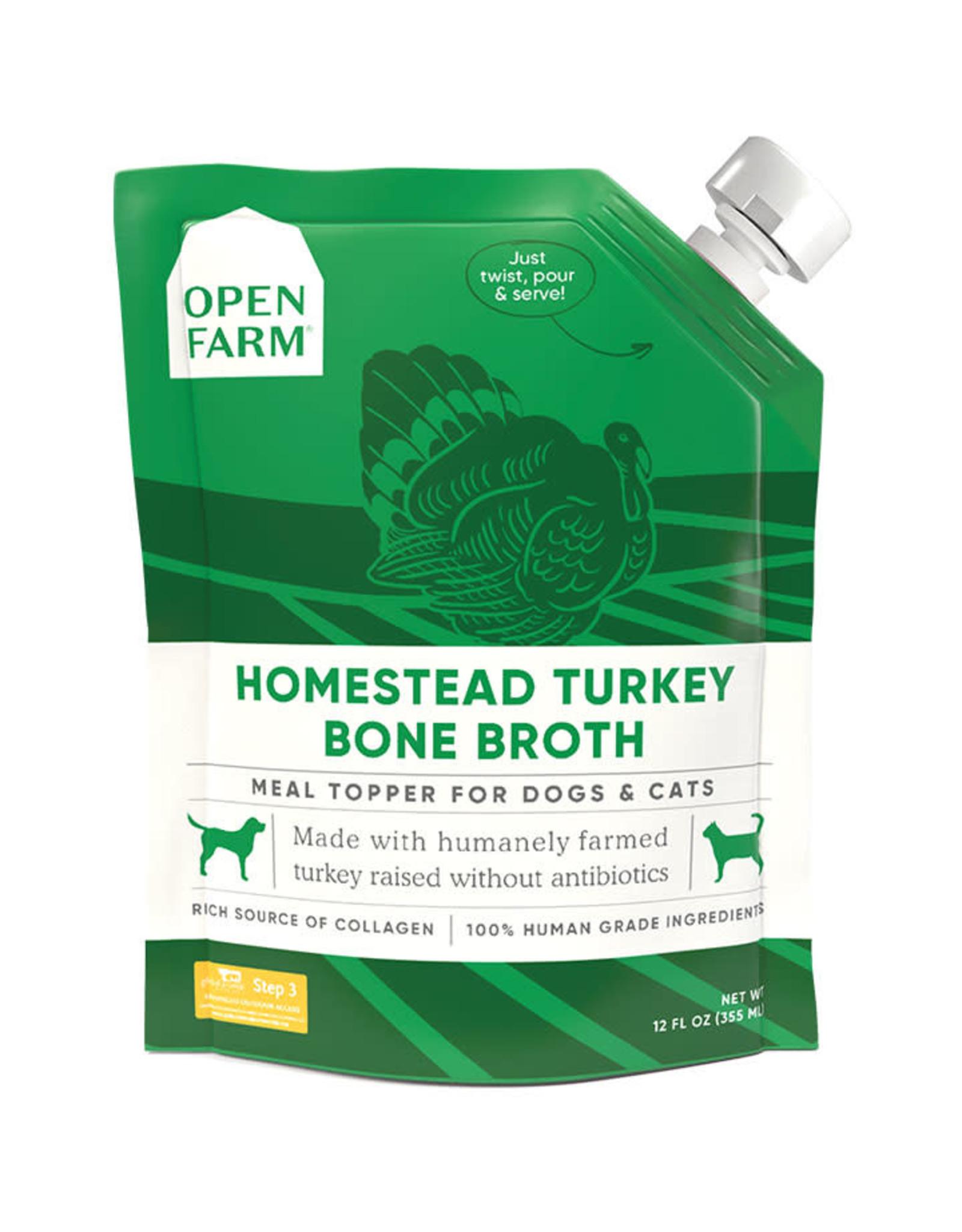 Open Farm Open Farm Homestead Turkey Bone Broth for Dogs & Cats 12 fl oz
