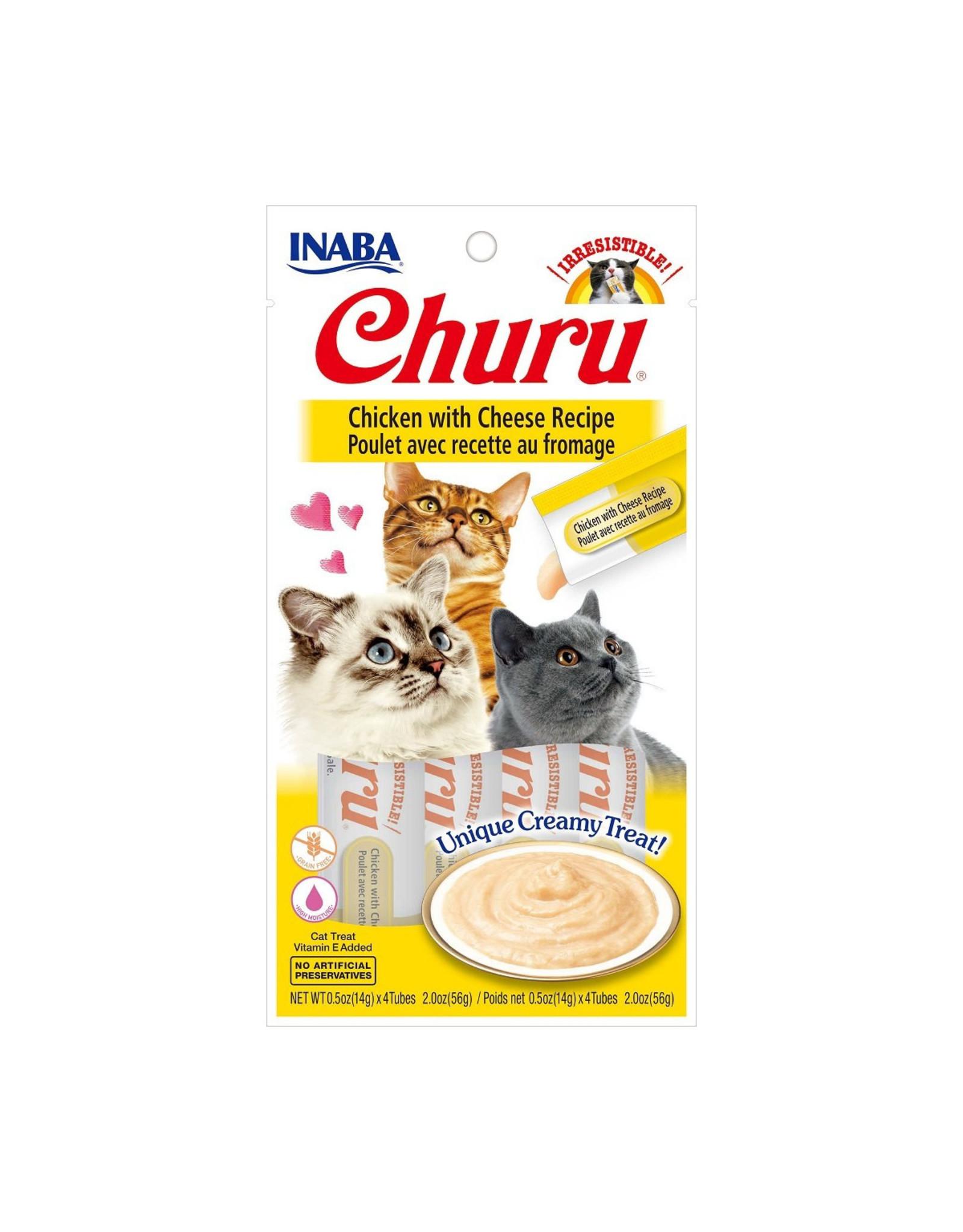 Inaba Inaba Churu Purees Chicken w/ Cheese 4 tube pack