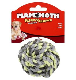 Mammoth Pet Products Mammoth Flossy Chews Monkey Fist Ball SM 3.75in