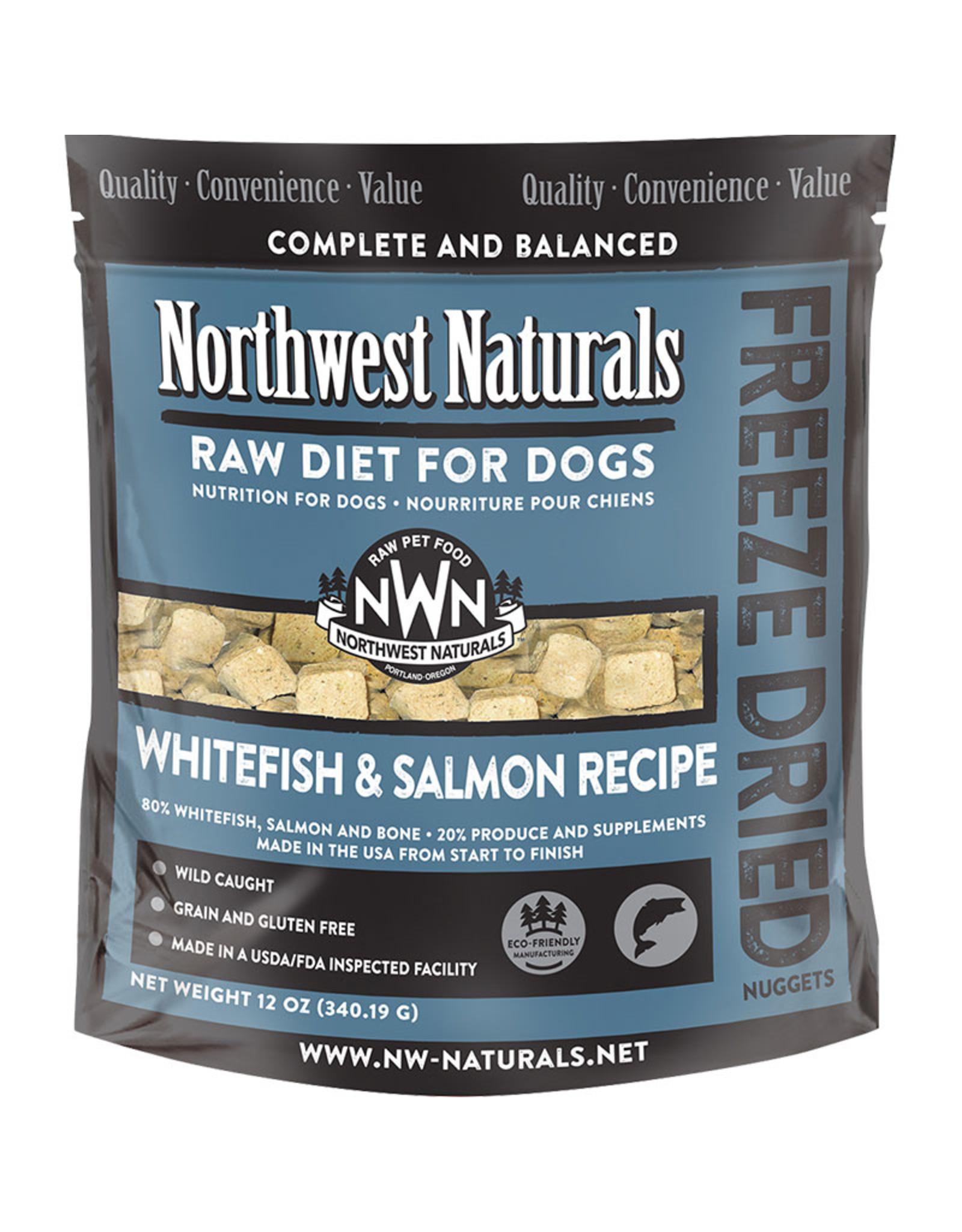 Northwest Naturals Northwest Naturals Raw Diet for Dogs Freeze Dried Nuggets Whitefish & Salmon Recipe 12oz
